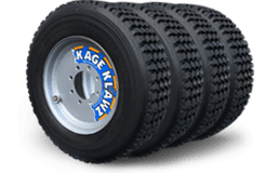 Kage Klawz Skid Steer Snow Tire Kit