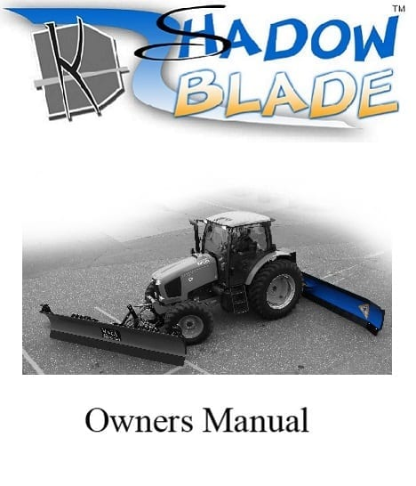Shadow Blade Tractor Snow Plow Manual