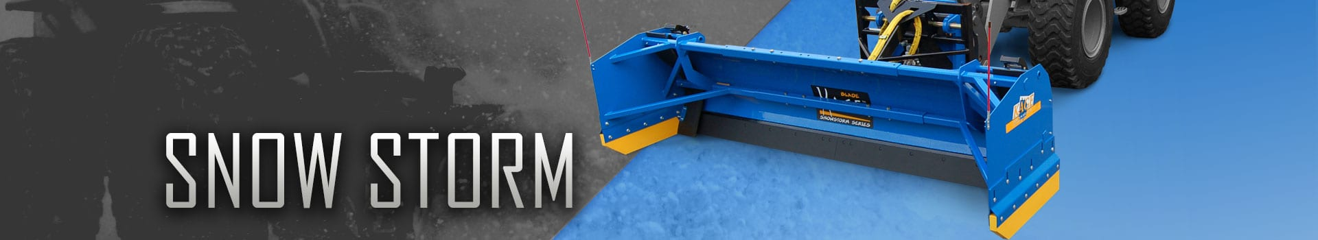 SNOWSTORM Front Loader Snow Plow by KAGE® Innovation