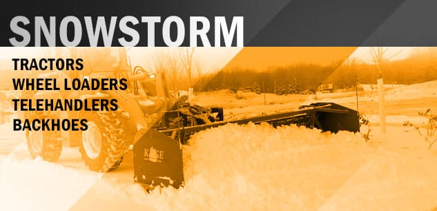 Kage Innovation SNOWSTORM Wheel Loader Hydraulic Snow Plow System