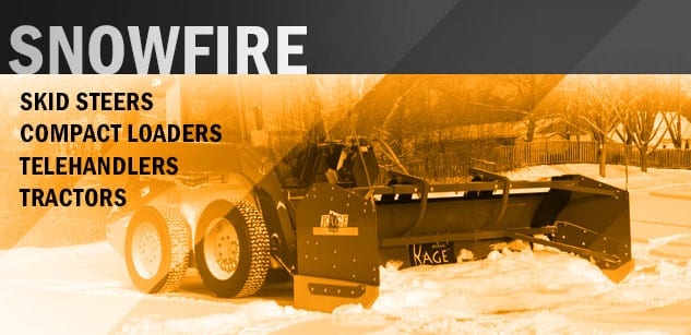 Kage Innovation SNOWFIRE Skid Steer Hydraulic Snow Plow System