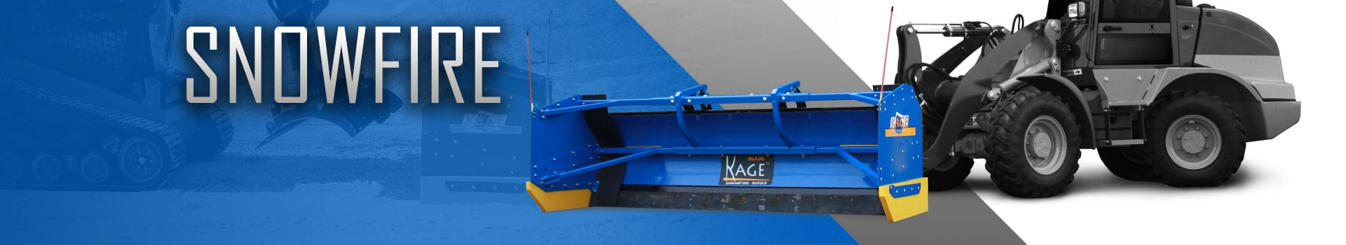 SNOWFIRE Skid Steer Snow Plow by KAGE® Innovation