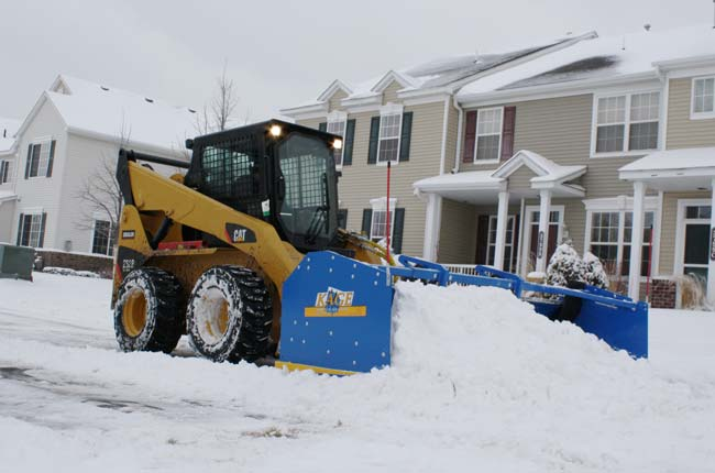 Skid Steer Snow Plow by Kage Innovation