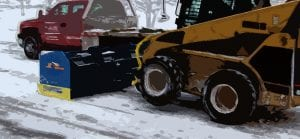 Skid Steer Snow Plow | Skid Steer Pusher | Skid Steer With A Snow Bucket | Skid Steer Plow for Sale | Kage Innovation