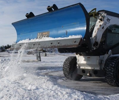 Skid Steer Snow Blades vs. Trucks  Efficiency?