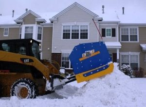 Plowing Parking Lots with a Skid Steer