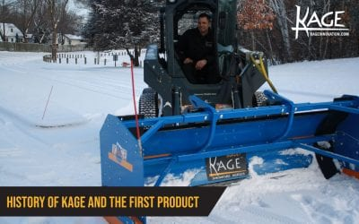 History of Kage® and the Original Skid Steer Snow Plow Box System