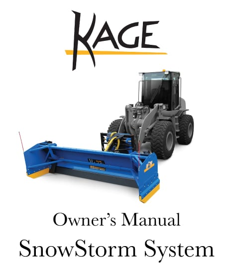 SNOWSTORM Tractor and Wheel Loader Snow Plow Manual