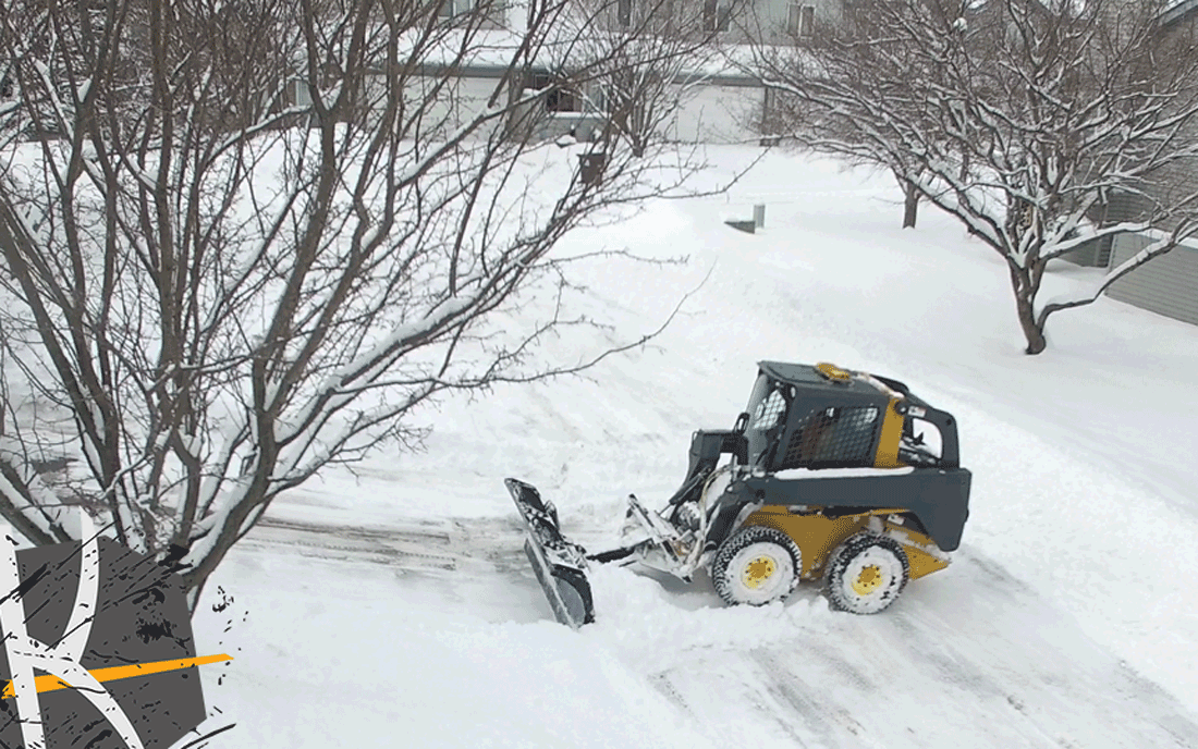 Clear HOA and Townhome Snow with a Skid Steer
